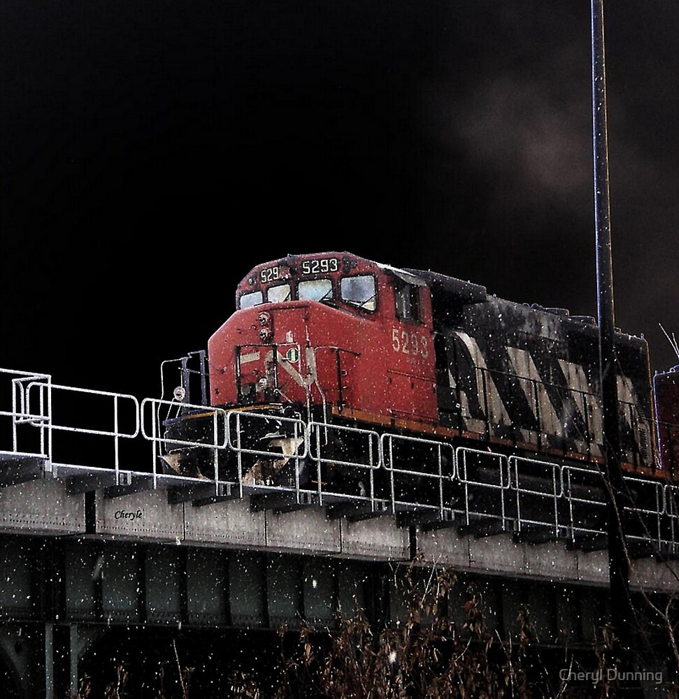 dark train ride by Cheryl Dunning
