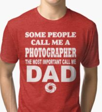 Dad Photographer T Shirts Tri-blend T-Shirt