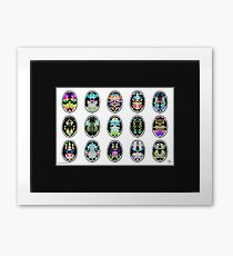 Rorschach inkblot fMRI Scan 15 inverted Framed Print