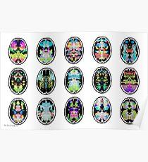 Rorschach Tintenklecks fMRI Scan 15 invertiert Poster