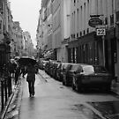 Woman in the Rain, Rue Jacob by APhillips