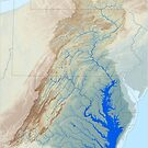Chesapeake Bay Watershed Map - Raw Landscape by kmusser