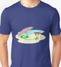 Cathy and the Cat - At the Beach Unisex T-Shirt
