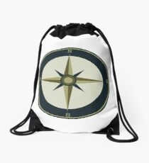 compass Rose Drawstring Bag