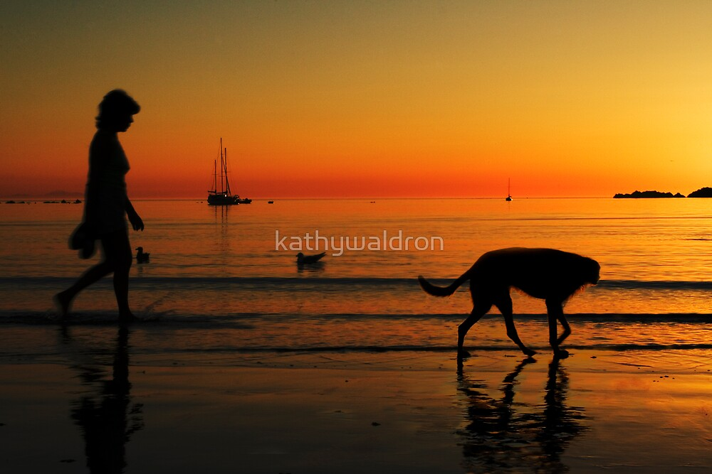 Walking the dog by kathywaldron