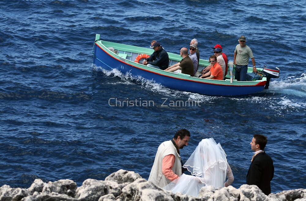 Wedding at Blue Grotto by Christian  Zammit