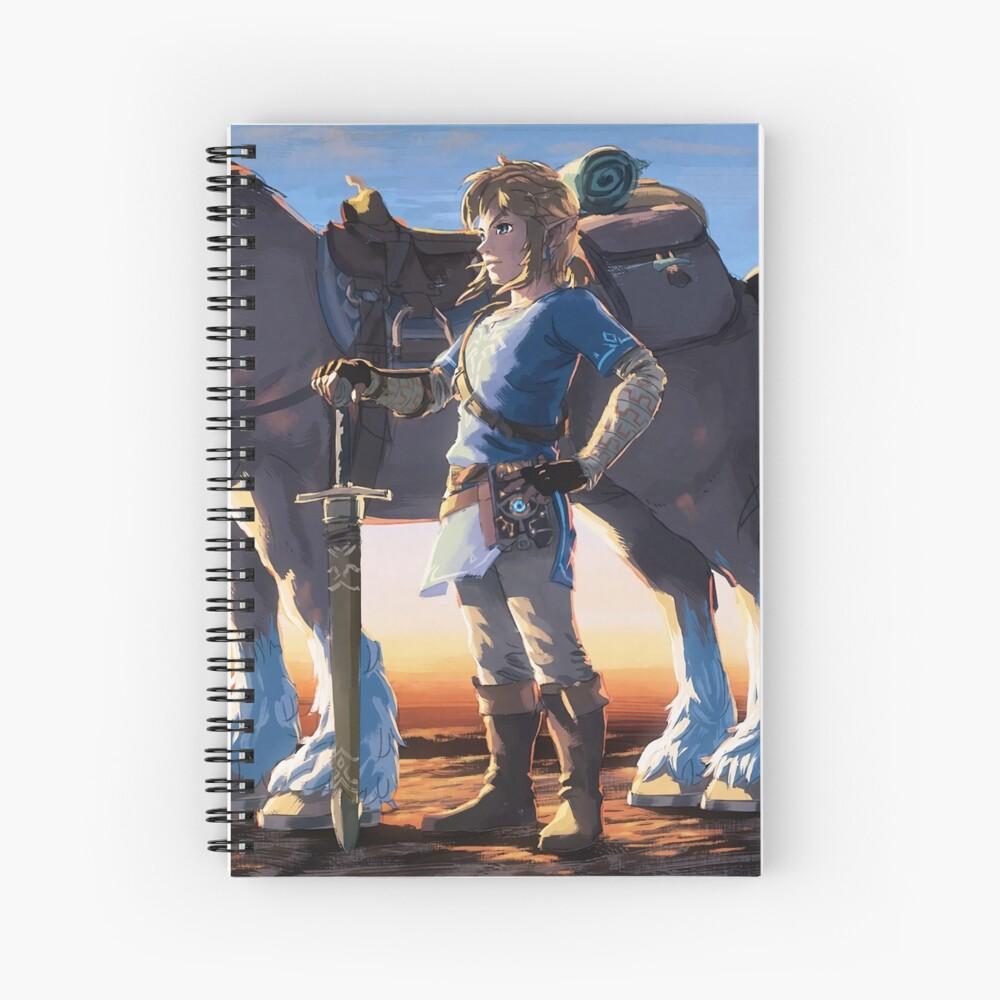 The Legend of Zelda: Breath of the Wild Link Spiral Notebook