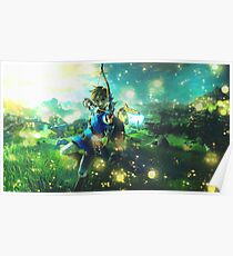 The Legend of Zelda: Breath of the Wild Link Poster