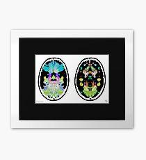 Rorschach inkblot fMRI Scan 2f Inverted Framed Print