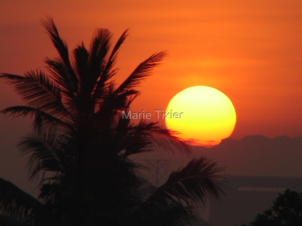 sunrise from my kitchen by Marie Tixier