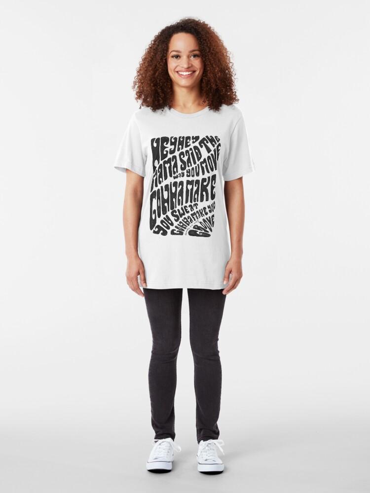 Alternate view of Hey hey mama Slim Fit T-Shirt