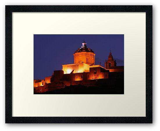 Mdina by night by Christian  Zammit