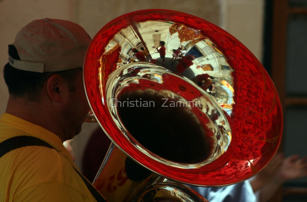 Band at the feast by Christian  Zammit