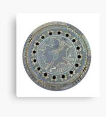 Berlin Man Hole, Canal Guss Canvas Print