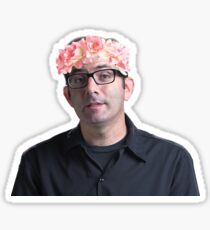 Flowery Jeff Sticker