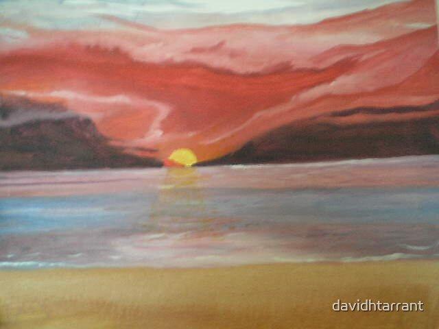 sunset beach by davidhtarrant