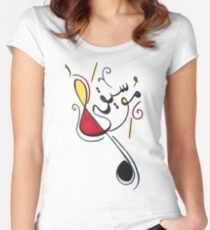 Music. Women's Fitted Scoop T-Shirt