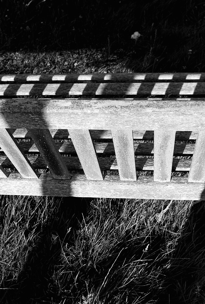 Bench in shaow by JimWhitham
