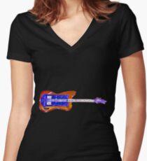 Bass Guitardis Women's Fitted V-Neck T-Shirt