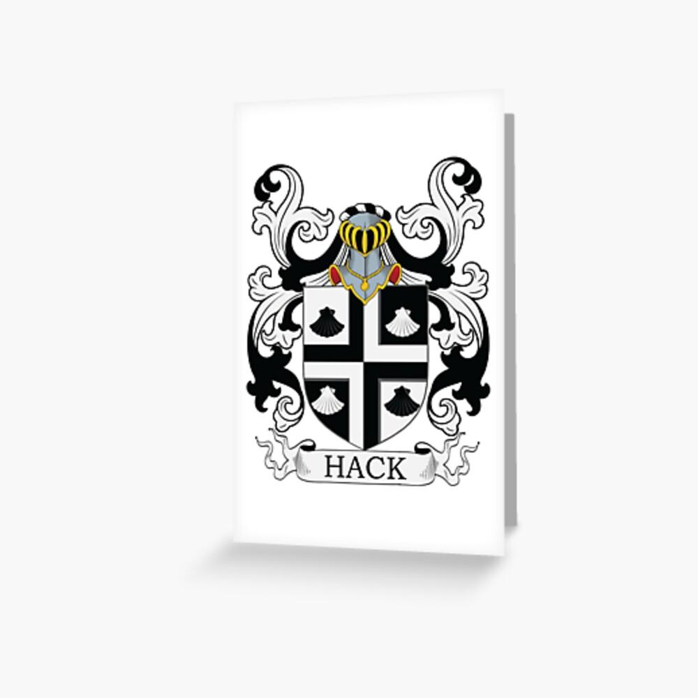 Hack Coat of Arms Grußkarte