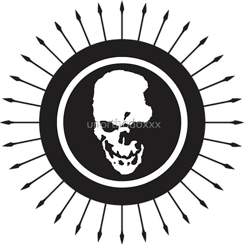 """Death Note skull logo"" Stickers by unorthodoxxx 