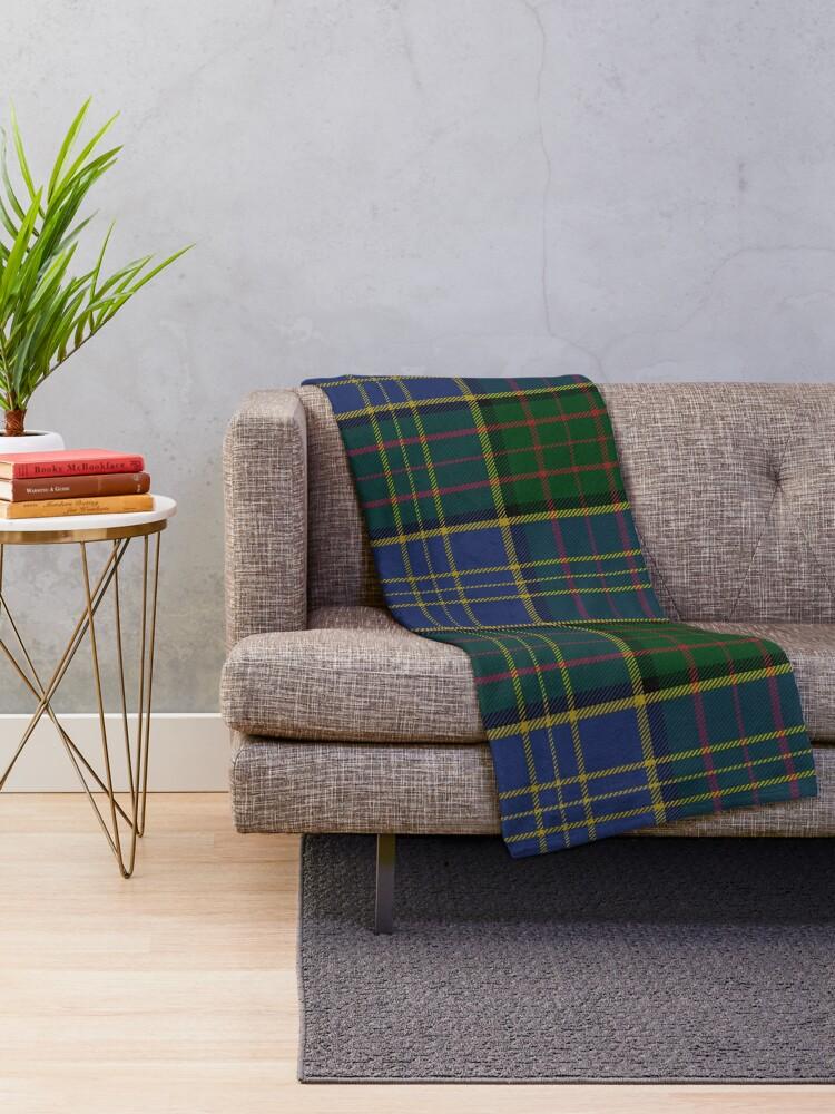 Alternate view of MacMillan Hunting Clan/Family Tartan  Throw Blanket