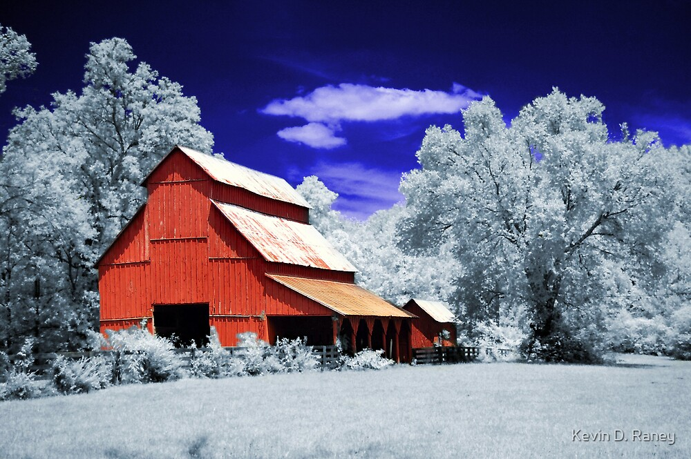 Infrared Barn by Kevin D. Raney