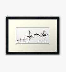 Ink Insect Framed Print