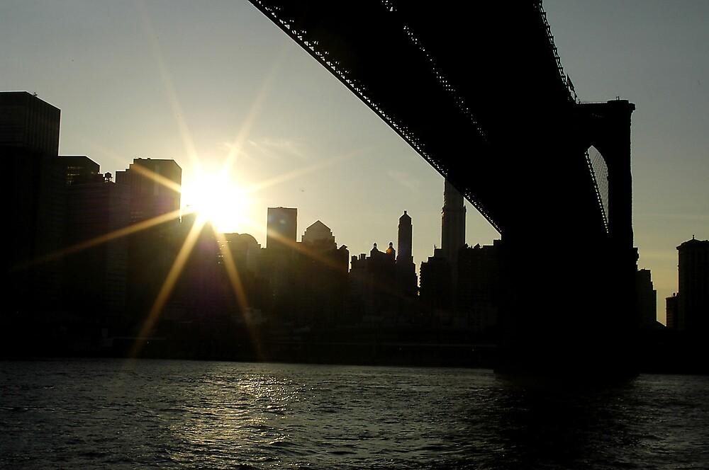 Brooklyn Bridge by JimWhitham