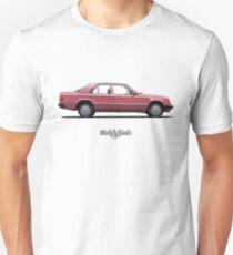 Mercedes-Benz 250 D (W124) (garnet red) Unisex T-Shirt
