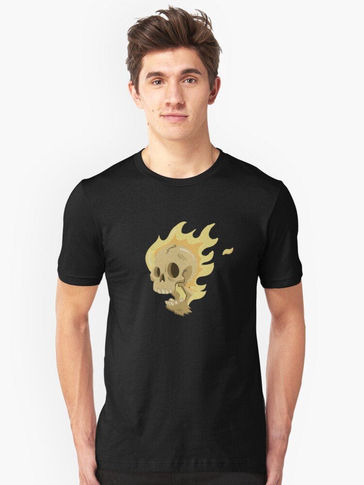Flaming Head... Unisex T-Shirt Front