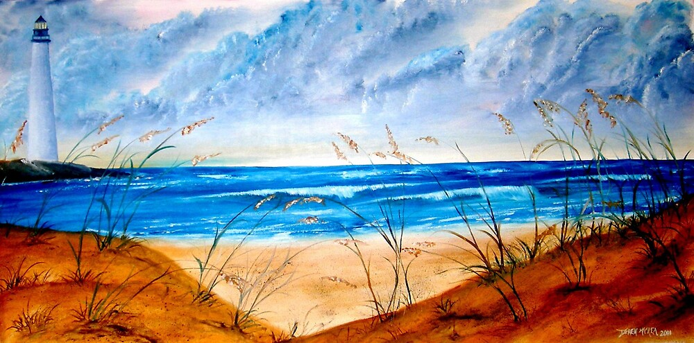 Oil Seascape and Lighthouse painting by derekmccrea