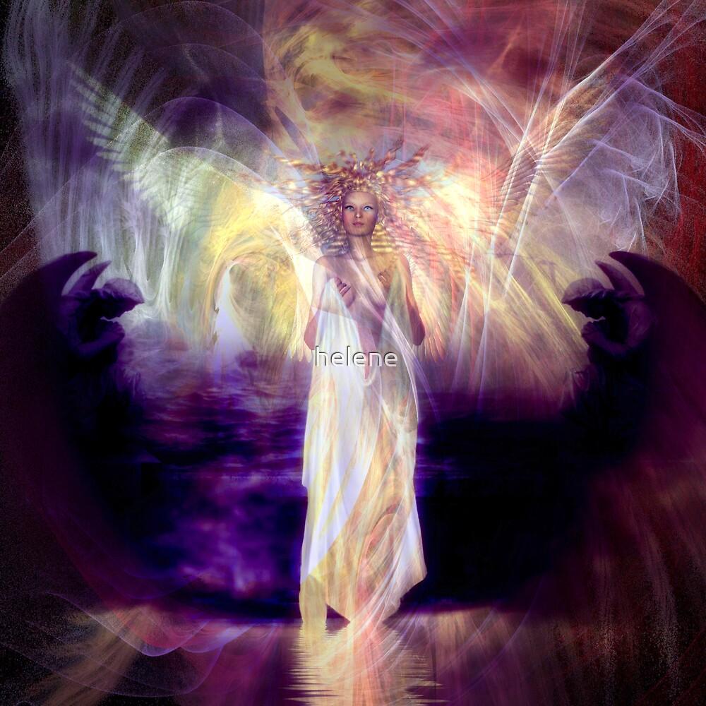 Rose Moxon and Helene Kippert - Solstice Angel by helene