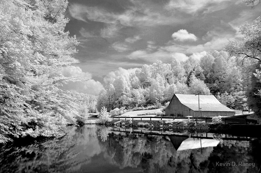 Infrared Mill B&W by Kevin D. Raney