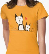 Big Cat Little Cat Womens Fitted T-Shirt