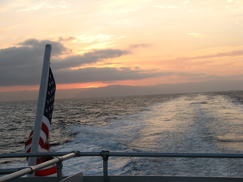 Patriotic Sunset by cfam