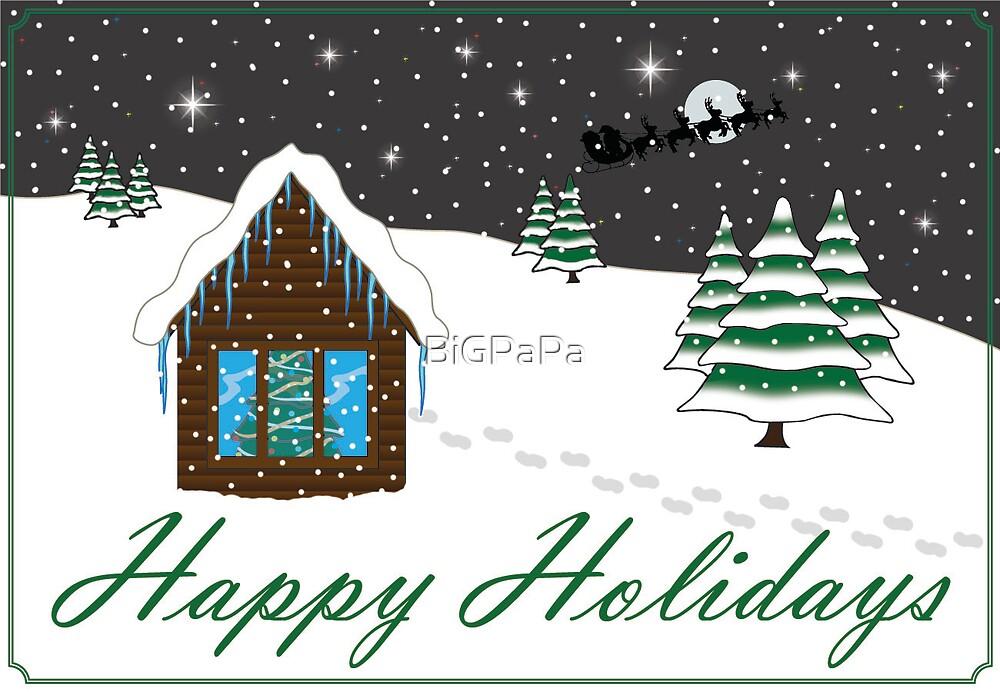 Happy Holidays Card green by BiGPaPa