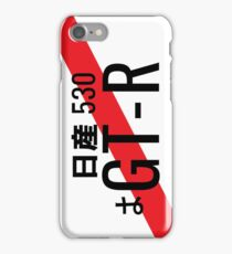 Nissan GTR Japanese Number plate iPhone Case/Skin