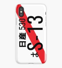 Nissan S13 Japanese JDM Plate iPhone Case