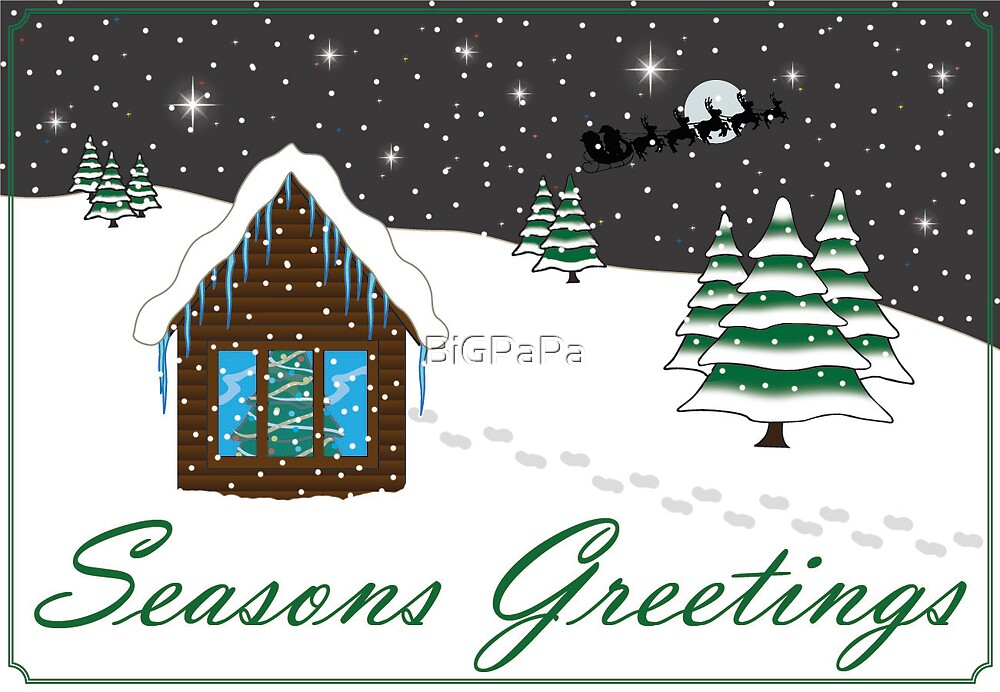 Seasons Greetings green by BiGPaPa