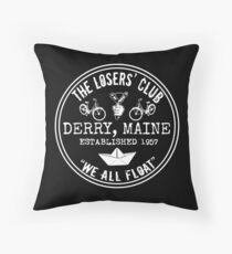 The Losers' Club Emblem - White Text Throw Pillow