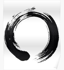 Zen Enso Circle Poster