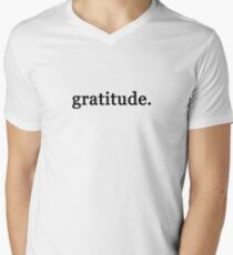 gratitude. Men's V-Neck T-Shirt