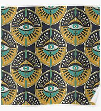 Tribal Evil Eye Pattern Poster