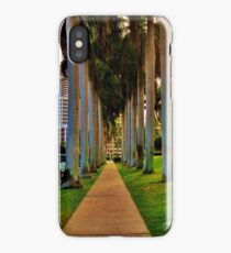 STREET LINED WITH PALM TREES iPhone Case/Skin