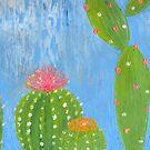 mini cacti & a blue sky  by melaniedann