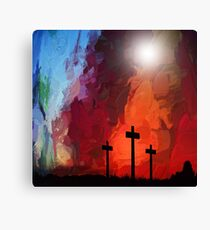 Empty Cross Canvas Print