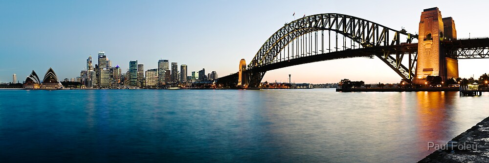 Panorama View of Sydney, The Opera House and Harbour Bridge by Paul Foley