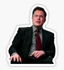 Elon Musk stank face Sticker