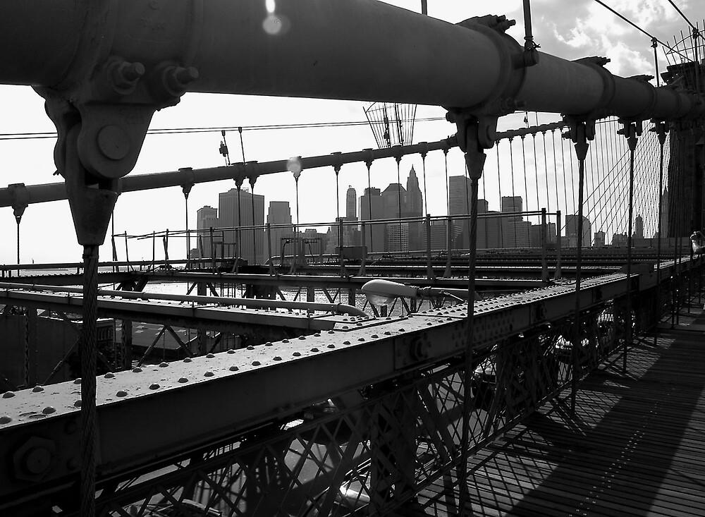 Brooklyn Bridge, Line and shape by JimWhitham